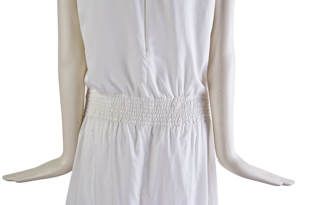 New by Chanel White Pleated Sleeveless Silk Sun Dress 5