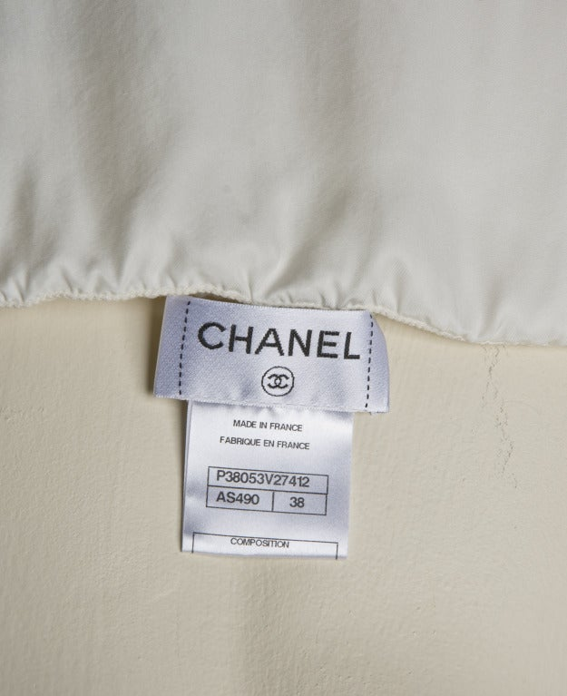 New by Chanel White Pleated Sleeveless Silk Sun Dress 9