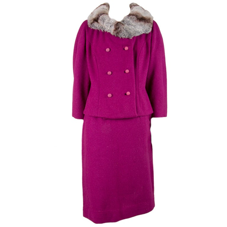 DESIGNED BY JAX c.1960\'s 2 Piece Purple Corduroy Jacket Tapered ...