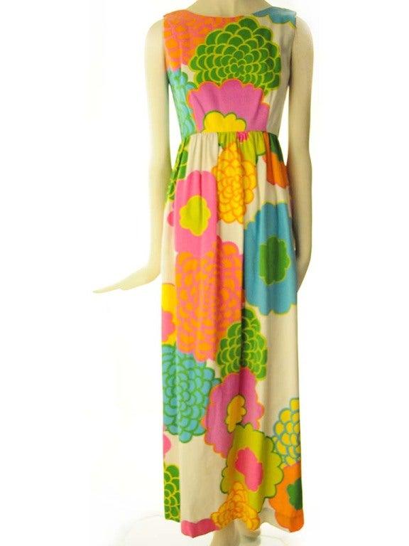 Malia Hawiian Maxi Dress in Neon Floral 2