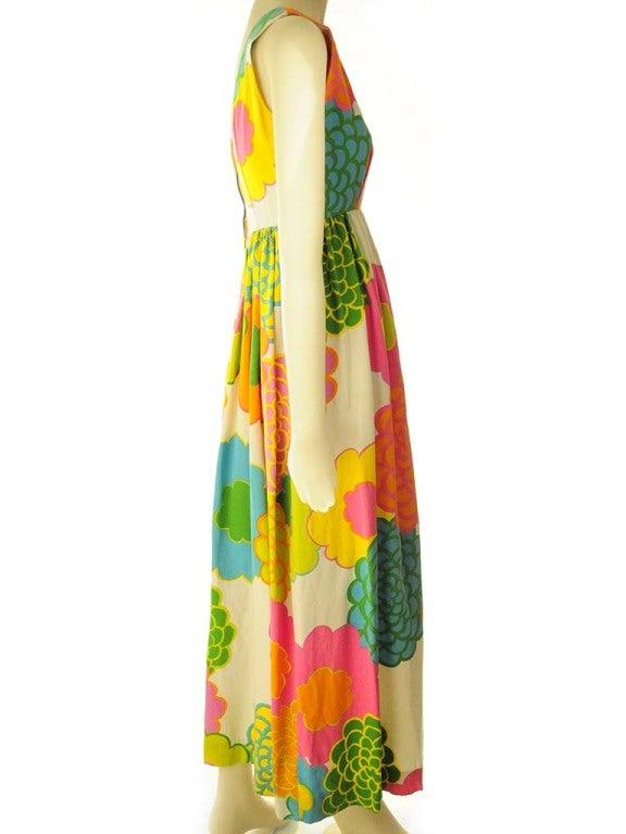 Malia Hawiian Maxi Dress in Neon Floral 3