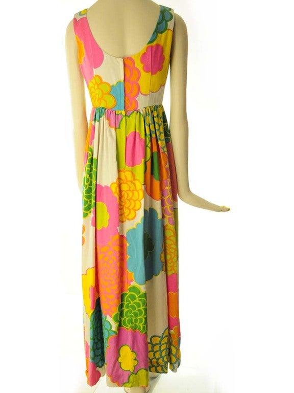 Malia Hawiian Maxi Dress in Neon Floral 4