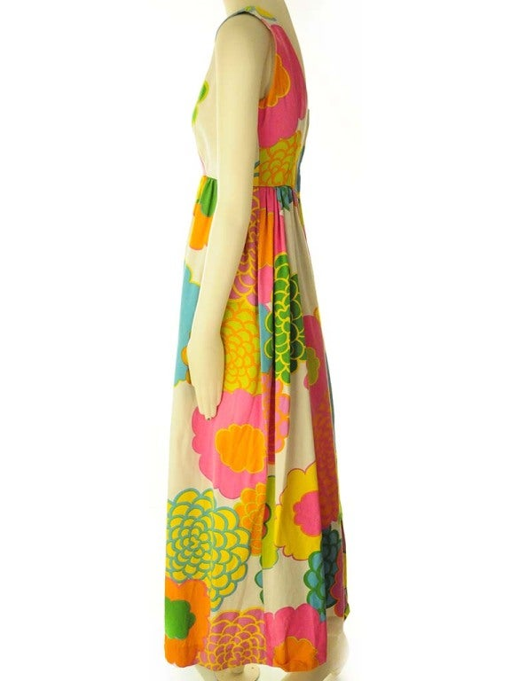 Malia Hawiian Maxi Dress in Neon Floral 5
