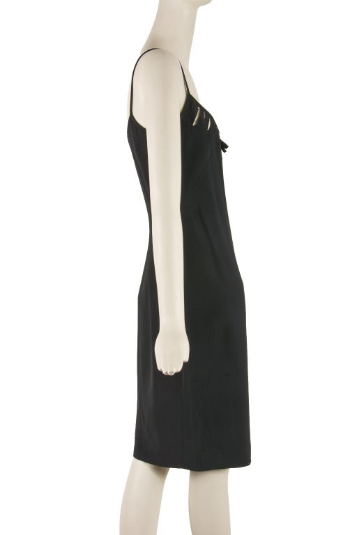 Cheap & Chic by Moschino Black Spaghetti Strap Cocktail Dress Size 8 2