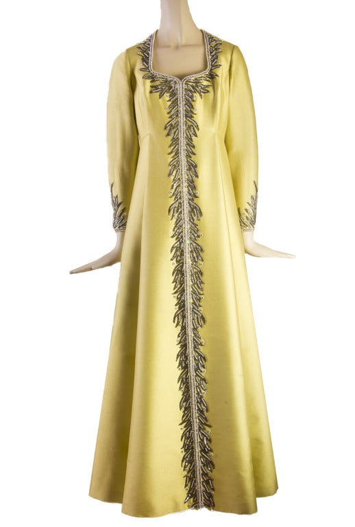 Victoria Royal Beaded Gown 1960's MAGNIFICENT 2