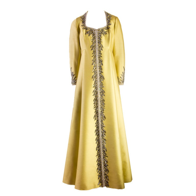 Victoria Royal Beaded Gown 1960's MAGNIFICENT 1