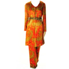 Bill Blass - Late 1960's Tunic and Pants - Museum Worthy