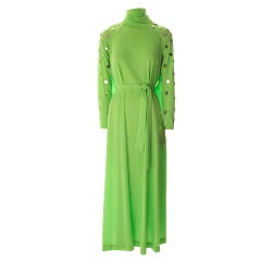 Long Mirror Dress-Lime Green