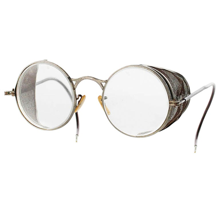 Antique 1930 S Motorcycle Glasses Goggles By Welsh At 1stdibs