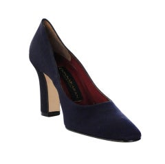"Navy Blue Donna Karan "" Norma"" Pumps"