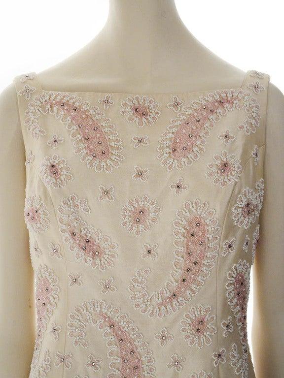 Vintage Victoria Royal Ltd. Beaded Cocktail Dress For Sale 1