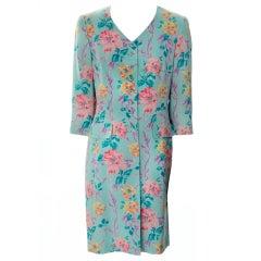 Vintage Escada Silk Floral Evening Jacket