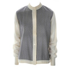 Vintage Hermes   Cardigan with Silk Front