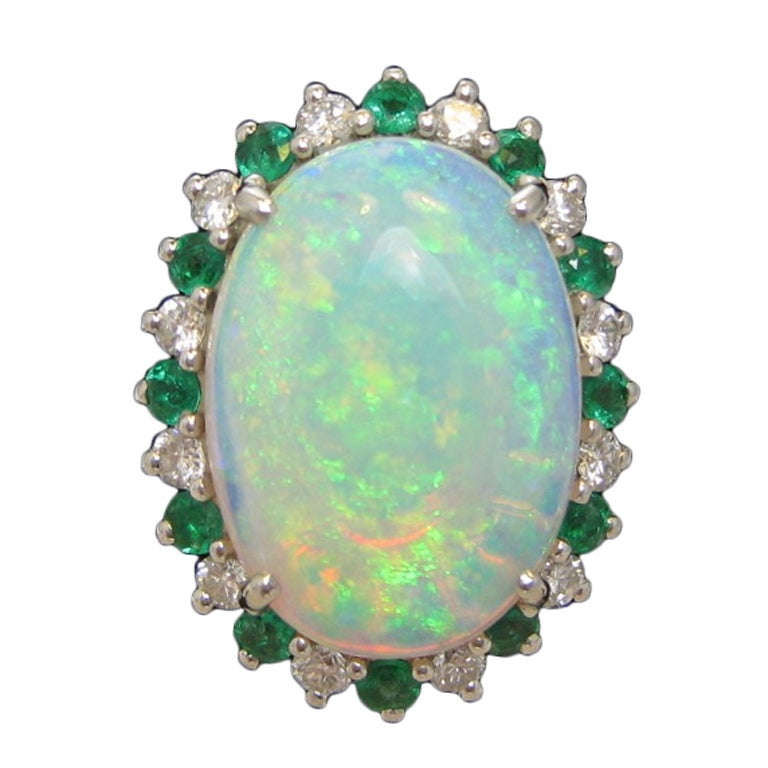 opal with emerald and ring at 1stdibs