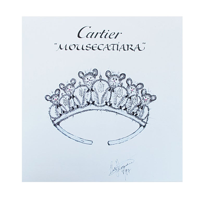 Mouse Couture Sketch by Cartier 1