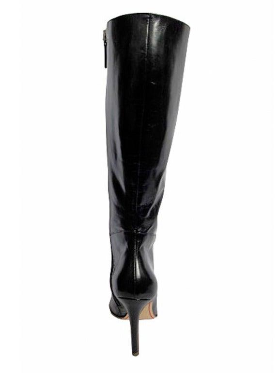 Valentino Black Leather Boots 6