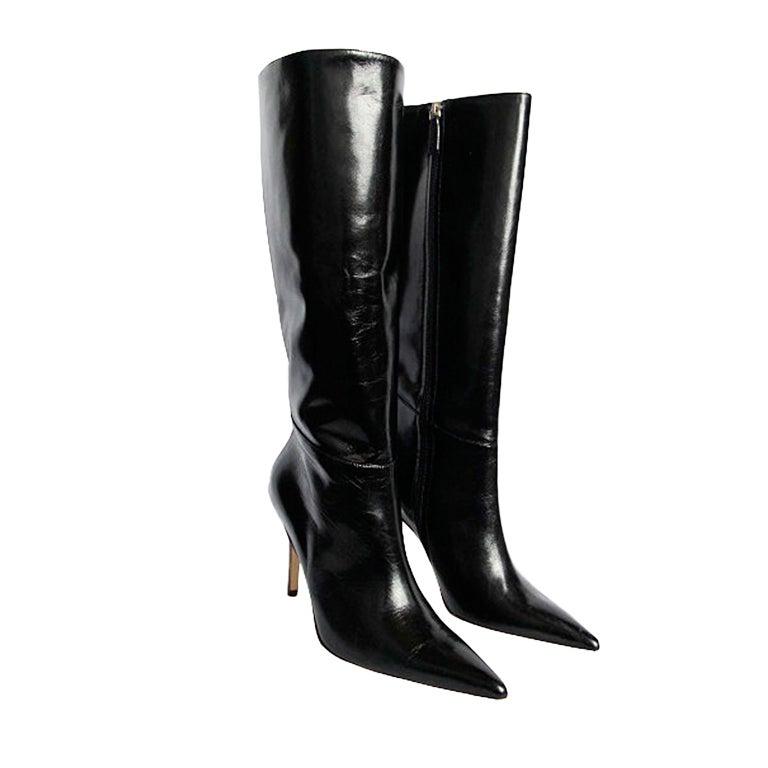 Valentino Black Leather Boots 1