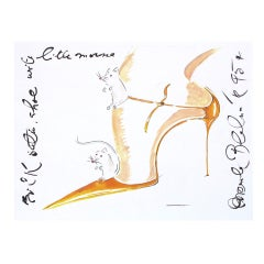Mouse Couture Sketch by Manolo Blahnik