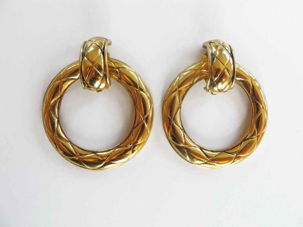 Chanel Door Knocker Earrings 2