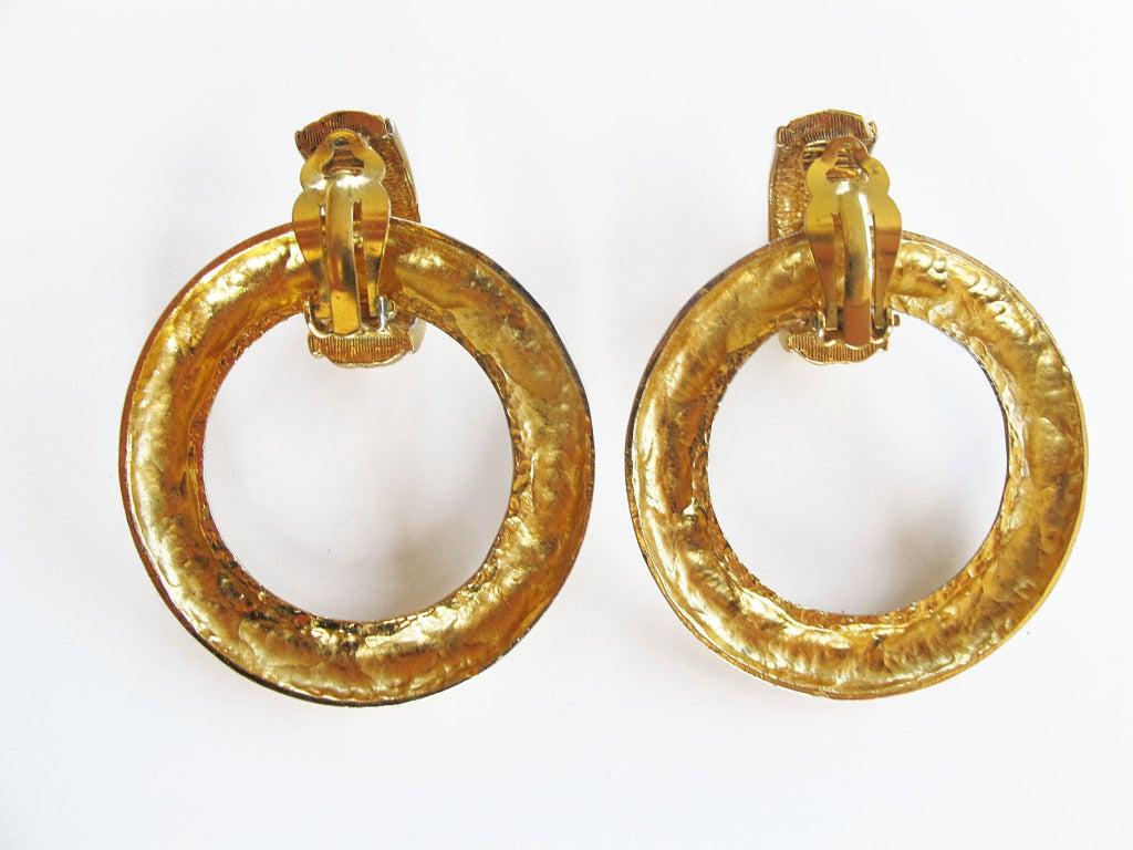 Chanel Door Knocker Earrings 3