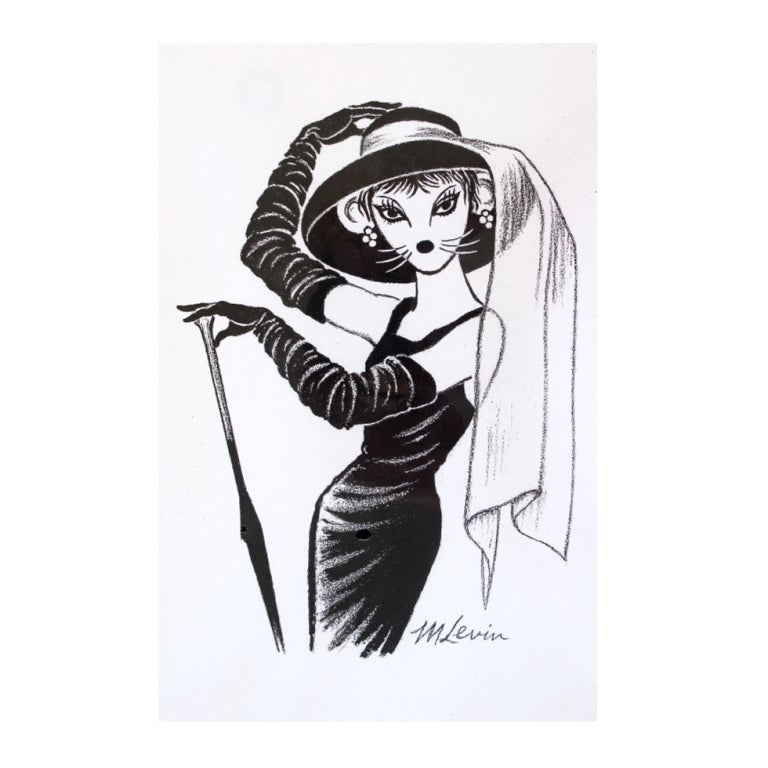 Mouse Couture Sketch by Morton Levin 1
