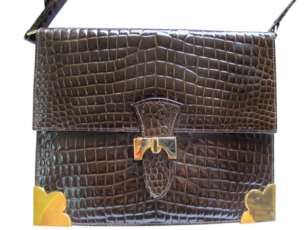 1960's Sacha Faux Crocodile Handbag 2