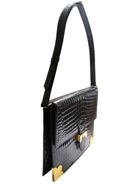 1960's Sacha Faux Crocodile Handbag 3