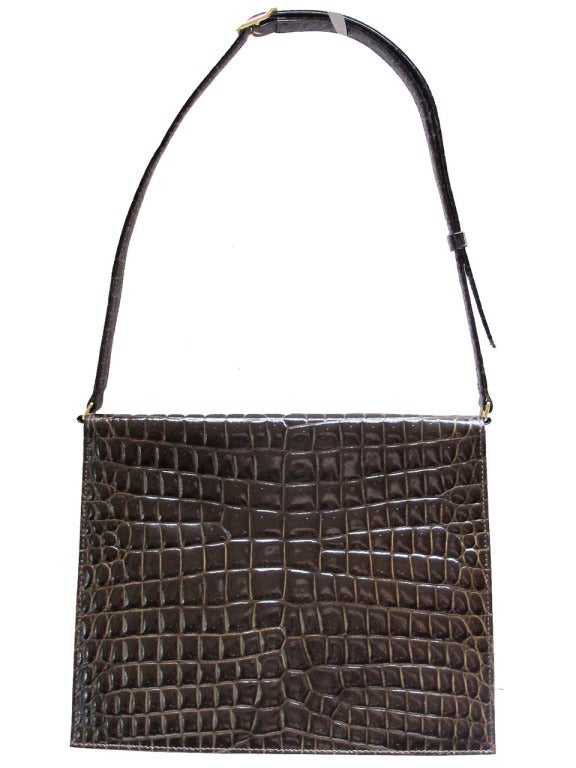 1960's Sacha Faux Crocodile Handbag 4