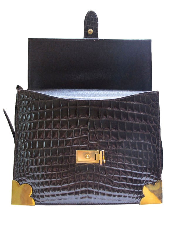 1960's Sacha Faux Crocodile Handbag 7