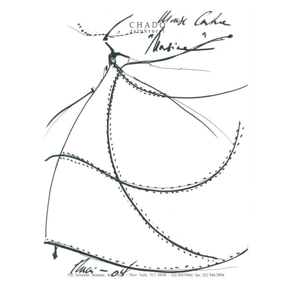 Mouse Couture Sketch by Chado Ralph Rucci 1