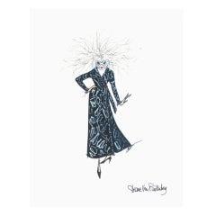 Mouse Couture Sketch by Diane Von Furstenberg