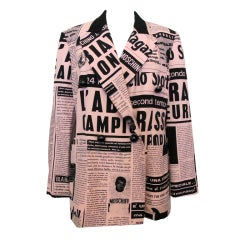 Moschino Couture Newsprint Jacket