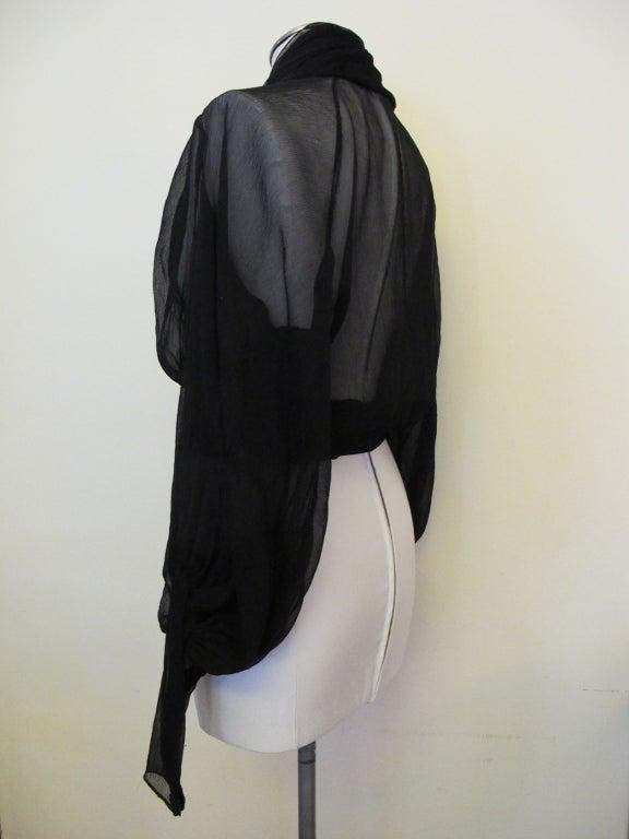 Wrap Blouse Black 71