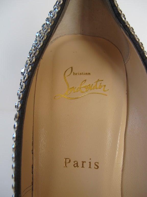 New Christian Louboutin Hematite Swarovski Crystal Shoes 8
