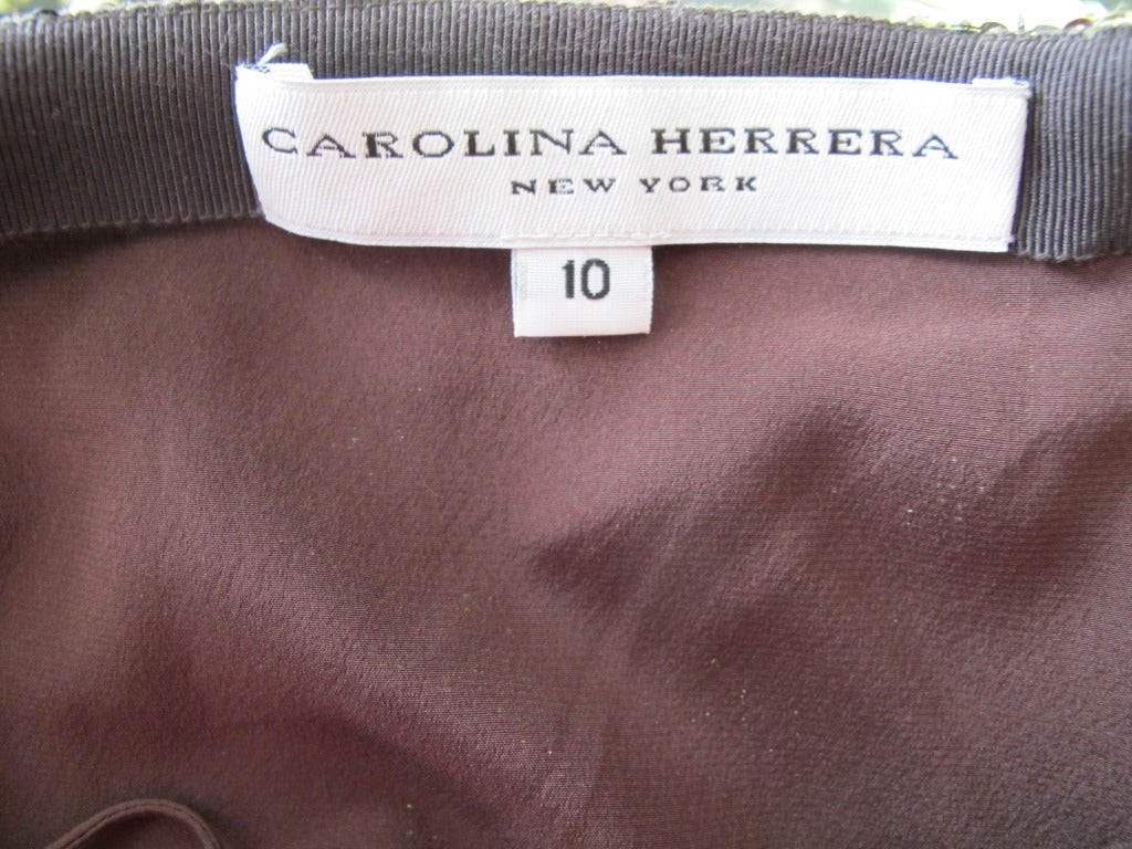 Carolina Herrera Rich Brown Sequin Evening Pants 10
