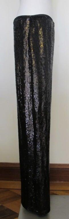 Carolina Herrera Rich Brown Sequin Evening Pants 4