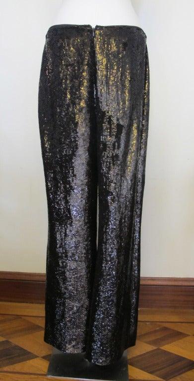 Carolina Herrera Rich Brown Sequin Evening Pants 6