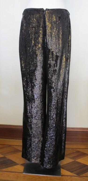 Carolina Herrera Rich Brown Sequin Evening Pants 7
