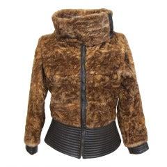 Giuliana Teso Chic Stenciled Sheared Fur