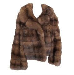 Natural Russian Sable Horizontal Jacket