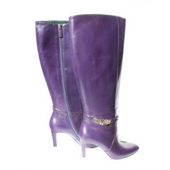 New Gucci Luscious Purple Boots