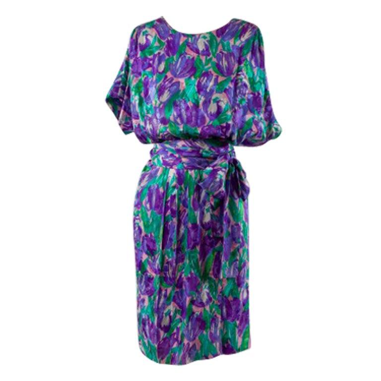 1980 S Givenchy Silk Day Dress At 1stdibs