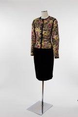 1980 S Oscar De La Renta Two Piece Brocade And Velvet Suit