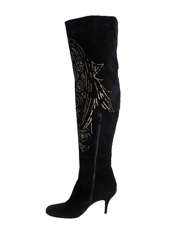 Emilio Pucci Over The Knee Suede Boots For Sale At 1stdibs