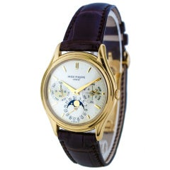 Patek Philippe Yellow Gold Perpetual Calendar Wristwatch