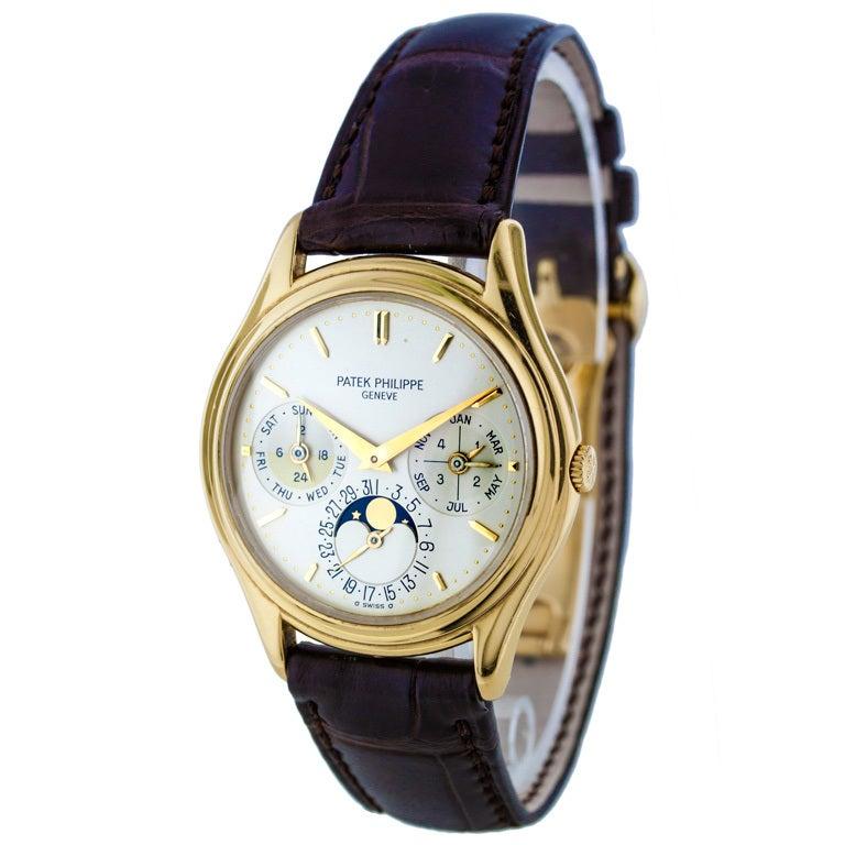 Patek Philippe Yellow Gold Perpetual Calendar Wristwatch