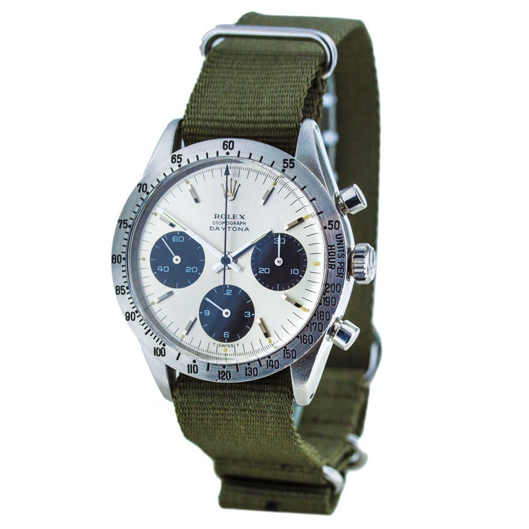 Rolex Stainless Steel Daytona Cosmograph Wristwatch circa 1960s For Sale