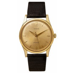 ROLEX Yellow Gold Precision Wristwatch with Center Seconds circa 1959