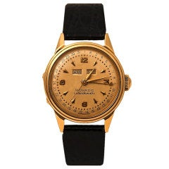 MOVADO Yellow Gold Triple Calendar Calendomatic Wristwatch