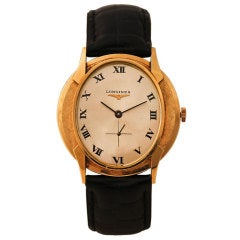 LONGINES Yellow Gold Wristwatch with Oval Dial